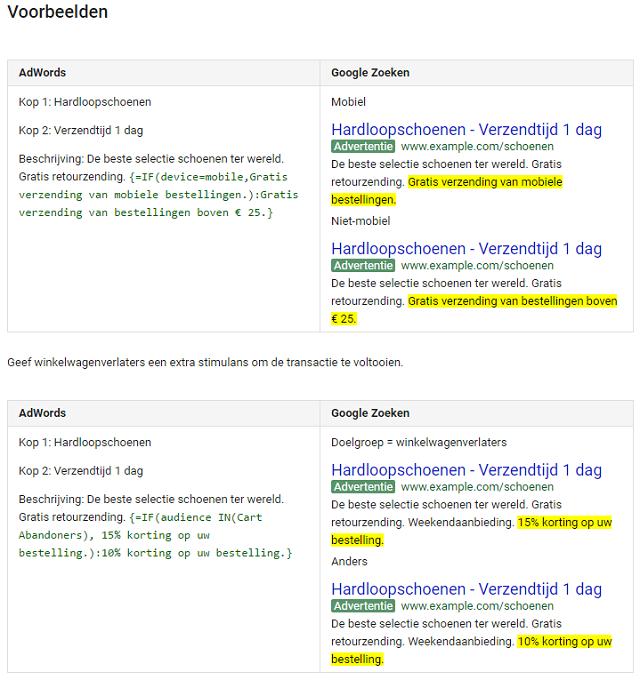 adwords-if-functies