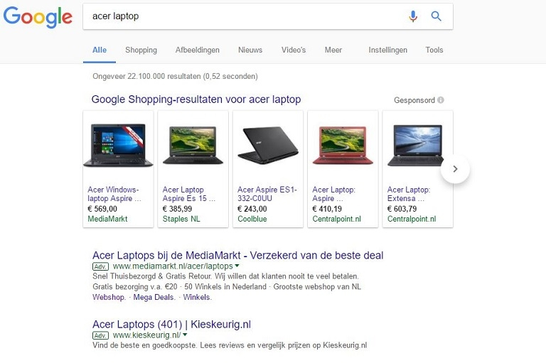 laptop-in-zoekresultaten